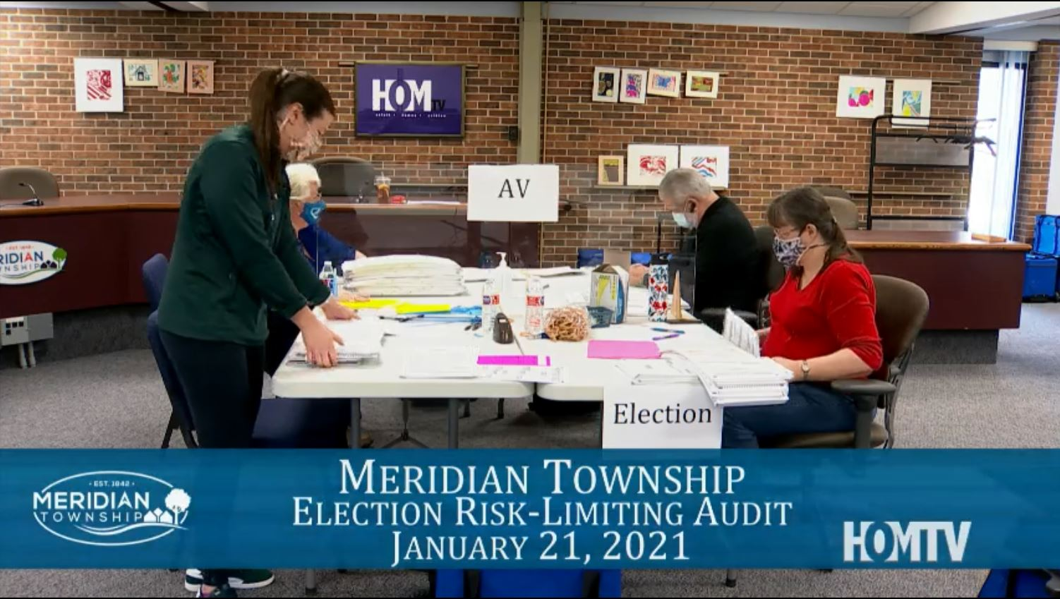 Virtual Meridian Township Election Risk-Limiting Audit