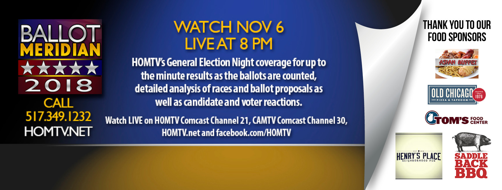 HOMTV Provides Live Primary Election Night Results