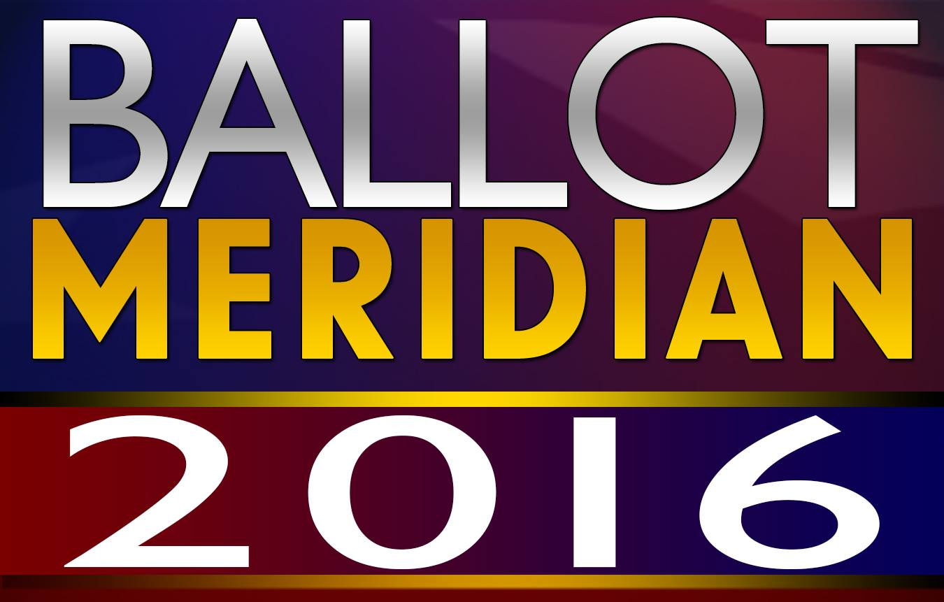 Ballot Meridian 2016 General Election 