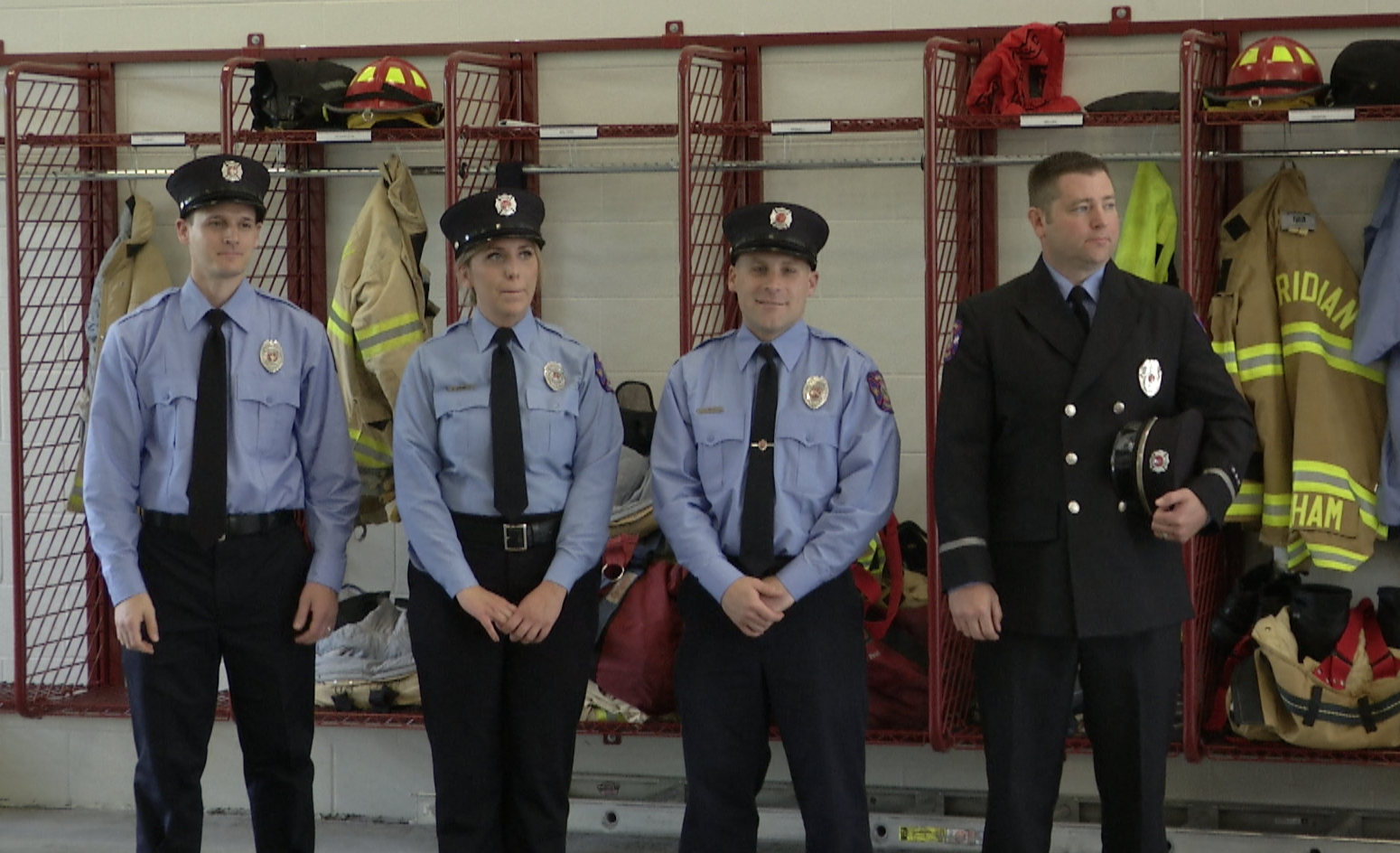 Firefighters Climb the Ladder in  Meridian Township Fire Department at  Promotion and Swearing-In Ceremony