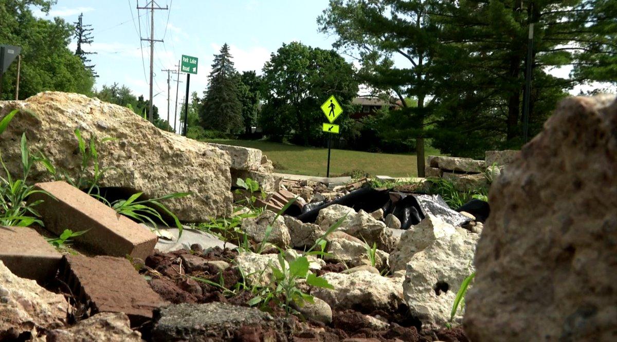 Progress Being Made at the Hidden River  Rain Garden