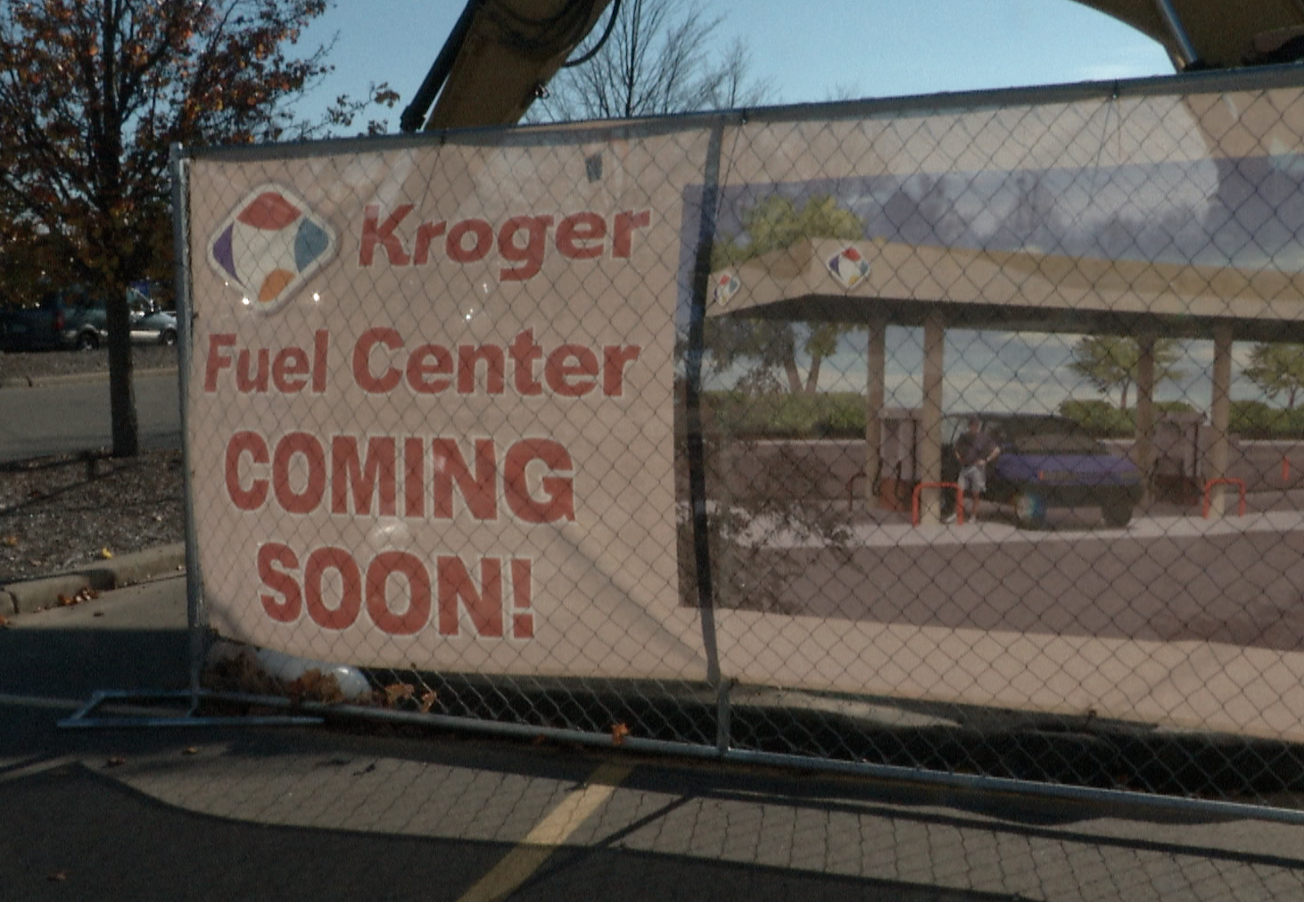 The Construction of the Kroger Gas  Station in Meridian Township Has Begun