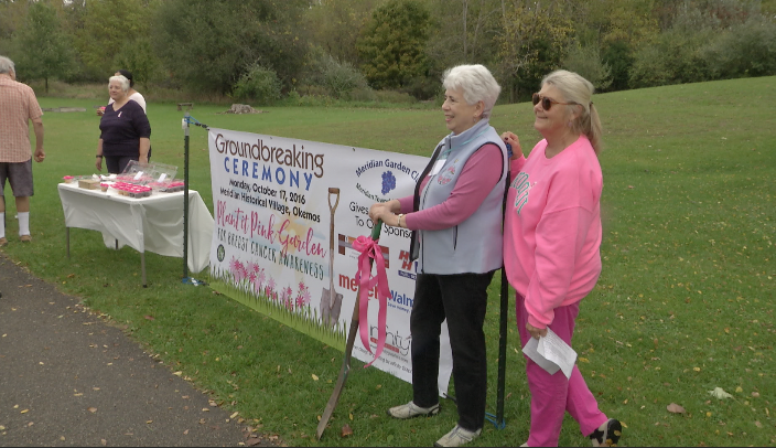 Meridian Garden Club Celebrates National  Breast Cancer Awareness Month with a  Plant it Pink Garden