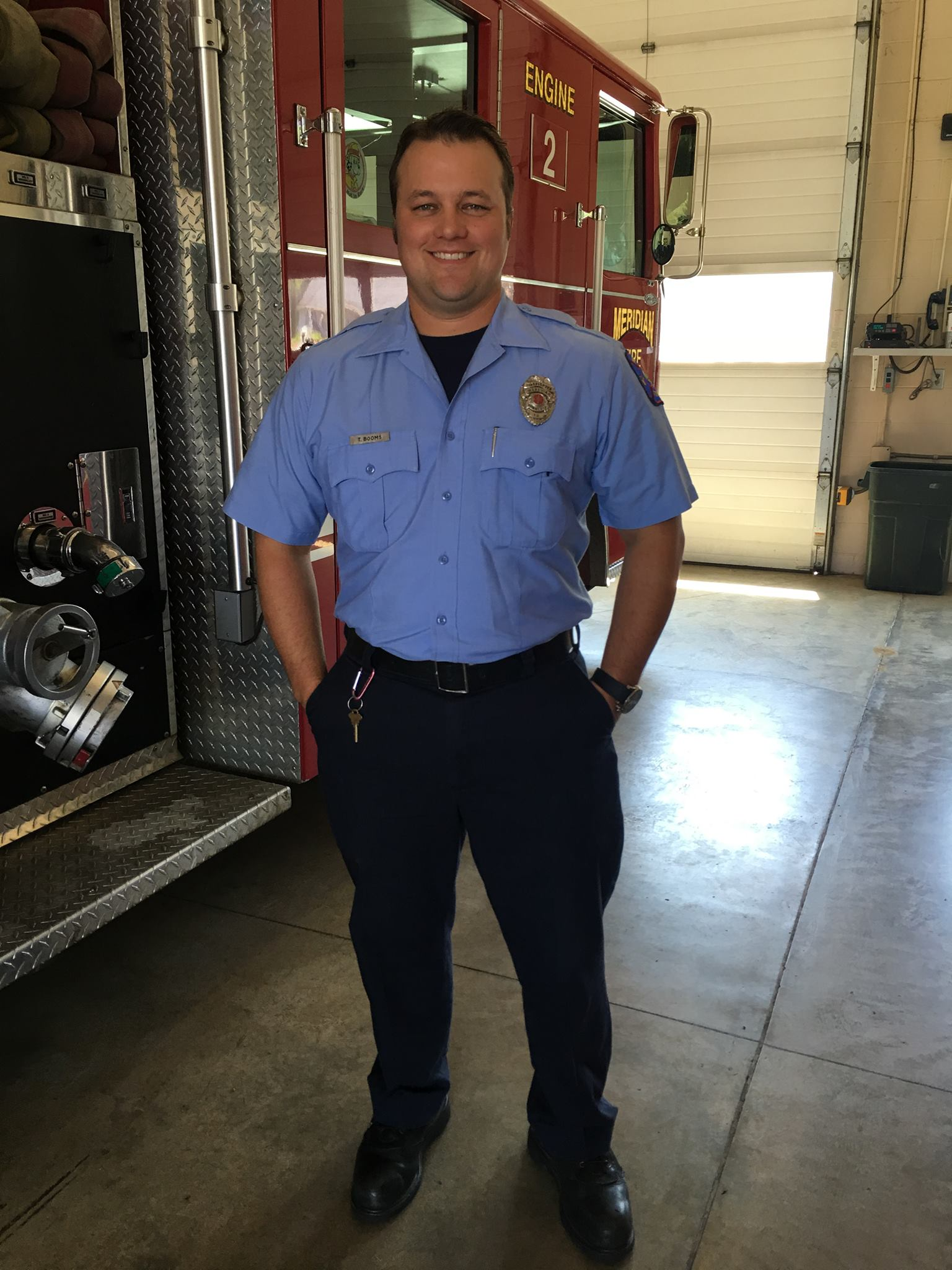 TJ Booms Receives Firefighter of the 