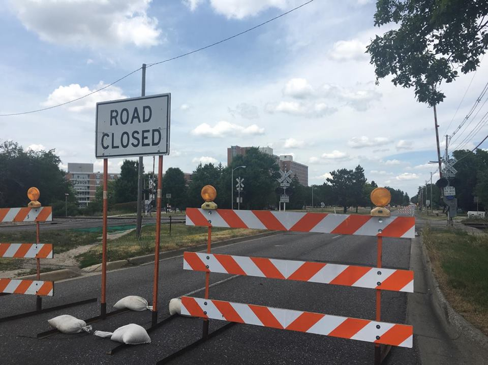 Road and Railroad Construction Begins on  Hagadorn Road